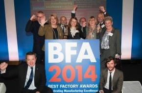 """BRITA GmbH: BRITA Großbritannien erhält einen der begehrten """"Best Factory Awards"""" der Cranfield School of Management"""