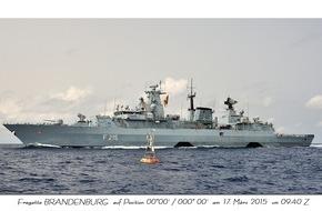 """Presse- und Informationszentrum Marine: Fregatte """"Brandenburg"""" kehrt vom Einsatz- und Ausbildungsverband zurück"""
