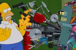 """ProSieben Television GmbH: Homer vs. Bender: """"Die Simpsons"""" treffen in ihrer 26. Staffel auf Matt Groenings """"Futurama"""" - ab 18. August auf ProSieben"""