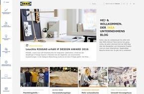 IKEA Deutschland GmbH & Co. KG: IKEA Deutschland startet Unternehmensblog