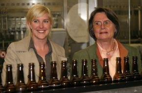 Warsteiner Brauerei: Warsteiner Brauerei baut Standort aus / Christa Thoben, Ministerin für Wirtschaft, Mittelstand und Energie des Landes Nordrhein-Westfalen, nahm 20 Millionen-Euro-Investition in Betrieb