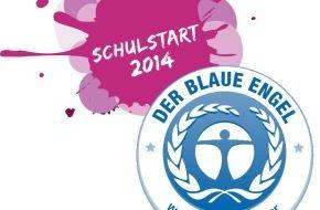 """Blauer Engel: Kampagne """"Schulstart mit dem Blauen Engel"""" für mehr Recyclingpapier / Breites Aktionsbündnis unterstützt Papierwende"""