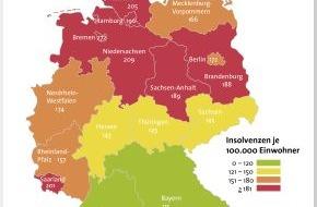 BÜRGEL Wirtschaftsinformationen GmbH & Co. KG: Schuldenbarometer 2012 / Privatinsolvenzen sinken im Jahr 2012 um 4,6 Prozent