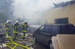 Feuerwehr Gelsenkirchen: FW-GE: Explosion in Gelsenkirchen Resse sorgt für Großeinsatz von Feuerwehr und THW / Eine tote Person nach Explosion in Gelsenkirchen Resse.
