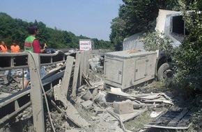 LKW Unfall A61