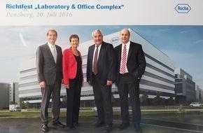Roche Diagnostics GmbH: Roche Penzberg feiert Richtfest für Bayerns größtes biotechnologisches Ausbildungszentrum