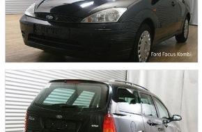 Polizeidirektion Hannover: POL-H: Tatverdacht hat sich nicht erhärtet - Erneuter Zeugenaufruf! Vergleichswagen Ford Focus Kombi und Kartenausschnitt