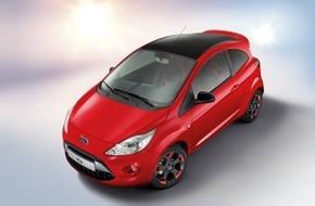 Ford-Werke GmbH: Kleiner Verführer in Rot und Schwarz: neues Sondermodell Ford Ka Red & Black Edition