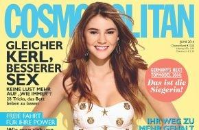"""Bauer Media Group, Cosmopolitan: GNTM-Gewinnerin Stefanie Cover Girl und im Exklusiv-Interview mit Cosmopolitan:  """"Ich singe immer laut, egal, wo ich gerade bin"""""""