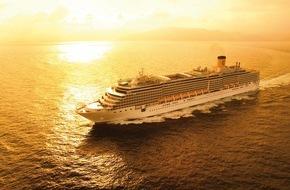 Costa Kreuzfahrten: Costa Luminosa startet diese Woche auf Weltreise / Ein 2-jähriger Deutscher ist mit seiner Familie an Bord