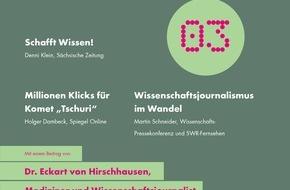 """dpa Deutsche Presse-Agentur GmbH: """"Mehr Wissen!"""": Neues dpa-Whitepaper zu Trends im Wissenschaftsjournalismus"""
