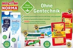 """NORMA: Nürnberger Discounter baut Sortiment mit Label """"Ohne Gentechnik"""" aus / NORMA: Gentechnikfreier Emmentaler und Mozzarella konkurrenzlos"""