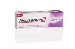 """Oral-B: Stiftung Warentest 4/2011: blend-a-med 3D White zählt zu den """"Besten für weiße Zähne""""! / blend-a-med Zahncremes """"sehr gut"""" in Kariesprophylaxe und Reinigungswirkung (mit Bild)"""