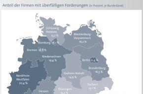 BÜRGEL Wirtschaftsinformationen GmbH & Co. KG: Zahlungsmoral der Unternehmen in Deutschland sinkt: Quote der Nicht- und Spätzahler steigt auf 17,5 Prozent / Fast jeder sechste Kunde bezahlt seine Rechnungen verspätet oder am Ende gar nicht