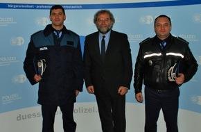 Polizei Düsseldorf: POL-D: Polizeipräsident Norbert Wesseler begrüßt Polizeibeamte aus Rumänien - Foto im Anhang