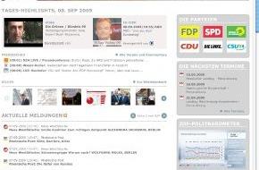 news aktuell GmbH: Informationsportal www.wahljahr09.de von news aktuell erleichtert die Recherche / Schon mehr als 10.000 Mitteilungen von Parteien, Organisationen und Medien