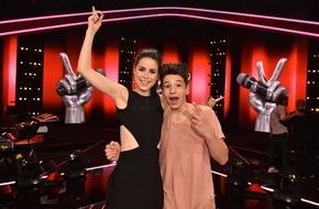 """SAT.1: Erfolgreiches Finale für """"The Voice Kids"""" 2015: Berliner Noah-Levi (13) gewinnt die Musikshow"""