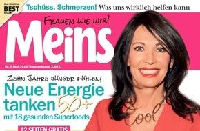 """Bauer Media Group, Meins: Iris Berben (65) exklusiv in Meins: """"Ruhe macht mich unruhig."""""""