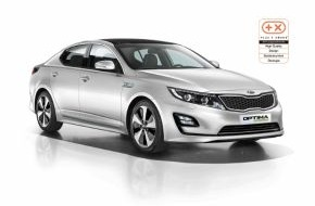 """KIA Motors Deutschland GmbH: """"Plus X Award"""": Kia Optima Hybrid* vierfach ausgezeichnet"""