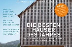 Gruner+Jahr, HÄUSER: HÄUSER-AWARD 2016: Die besten Einfamilienhäuser Europas / Die Siegerobjekte stehen in Österreich, Spanien, Deutschland und Griechenland