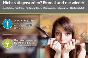 Bookatable GmbH & Co.KG: Restaurantbesuch: Wer nicht satt wird, kommt nicht wieder