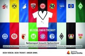 Stiftung Deutsche Sporthilfe: #Lieblingstrikot: Große Trikot-Auktion aller 36 Bundesliga-Clubs zugunsten der Deutschen Sporthilfe