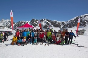 medi GmbH & Co. KG: Jubiläum im Kaunertal - Skifahrer mit Handicap wachsen beim stolperstein Ski-Event über sich hinaus