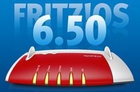 AVM GmbH: Ab sofort kostenloser Download von FRITZ!OS 6.50