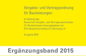Beuth Verlag GmbH: Ergänzungsband 2015 zur VOB 2012 Teil C erscheint im dritten Quartal 2015