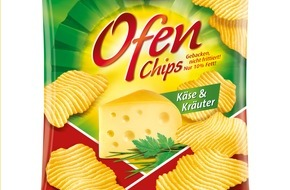 Intersnack Knabber-Gebäck GmbH & Co. KG: Knackig gebacken und frisch aus dem Ofen: funny-frisch Ofen Chips Käse & Kräuter