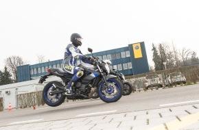 Touring Club Schweiz/Suisse/Svizzero - TCS: ABS verringert Unfallgefahr bei Motorrädern erheblich