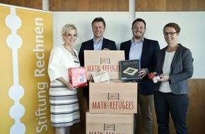 Stiftung Rechnen: Mit Freude am Rechnen Menschen verbinden - Stiftung Rechnen verteilt Math4Refugees-Willkommensboxen an Flüchtlingseinrichtungen