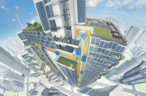 ThyssenKrupp Elevator AG: ThyssenKrupp präsentiert MULTI: Das erste seillose Mehrkabinenaufzugssystem der Welt