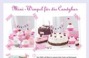 Staedtler: Süße Hochzeitsdeko: Mini-Wimpel für die Candy Bar