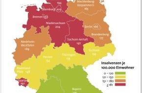 BÜRGEL Wirtschaftsinformationen GmbH & Co. KG: Privatinsolvenzen sinken um 6,1 Prozent / mehr ältere Bundesbürger betroffen