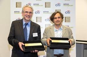 Citi: Deutscher Finanzbuchpreis 2015 geht an Hanno Beck und Aloys Prinz
