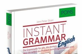 PONS GmbH: Instant Grammar English von PONS - nie war Grammatik verständlicher