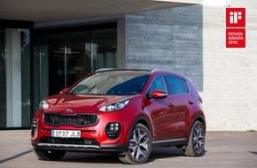 KIA Motors Deutschland GmbH: Begehrte Designpreise für Kia Sportage und Kia Optima