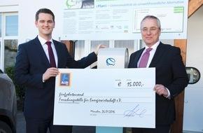 Unternehmensgruppe ALDI SÜD: ALDI SÜD fördert mit 15.000 Euro die Forschungsstelle für Energiewirtschaft