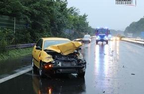 Feuerwehr Iserlohn: FW-MK: Verkehrsunfall auf der Autobahn 46