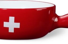 Migros-Genossenschafts-Bund: Migros: Rückruf des rot-weissen Fondue-Caquelons mit Schweizer Kreuz aus Porzellan
