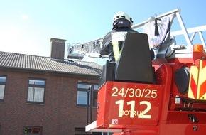 Polizeiinspektion Cuxhaven: POL-CUX: Gemeinsame Brandschutzübung von Feuerwehr und Polizei