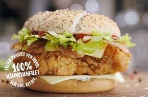 KFC Deutschland: Nur KFC hat den einzig wahren B.O.S.S Bacon / KFC macht in neuem TV-Spot Appetit auf den B.O.S.S Bacon und inszeniert die einzigartige Zubereitung in ausdrucksstarken Bildern