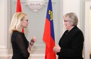 Fürstentum Liechtenstein: ikr: Norwegische Europaministerin zu Besuch in Vaduz