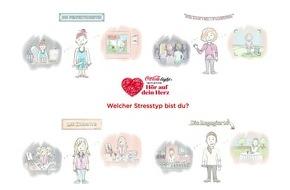 """Coca-Cola Deutschland: Kreative und Perfektionisten, Kontaktfreudige und Engagierte: Neue """"Hör auf dein Herz""""-Studie zeigt, zu welchen Stresstypen die Deutschen gehören"""