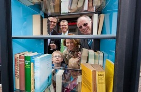 """RWE Deutschland AG: Literatur """"to go"""" am Welttag des Buches / RWE schafft mit Bücherschränken kulturelle Infrastruktur"""