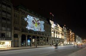 Microsoft Deutschland GmbH: Xbox Live geht auf die Straße / Lichtinstallation der Londoner Streetart Ikone Sunil Pawar gibt Startschuss für Xbox Live Kampagne.