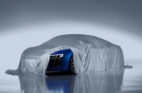Audi AG: Audi zeigt Laser-Scheinwerfer des neuen R8