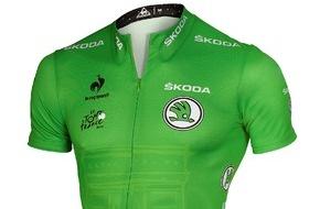 Skoda Auto Deutschland GmbH: SKODA stärkt Radsport-Engagement: Neuer offizieller Partner des Grünen Trikots der Tour de France und der Vuelta