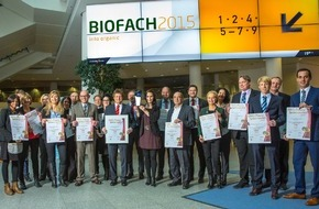 NORMA: NORMA: Bio-Händler des Jahres 2015! / Top-Level Preis auf der BIOFACH 2015 für Discounter aus Nürnberg